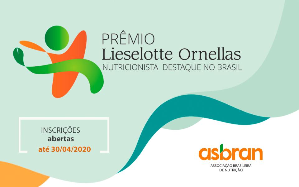 Asbran lança nova edição do Prêmio Lieselotte Ornellas Nutricionista Destaque no Brasil